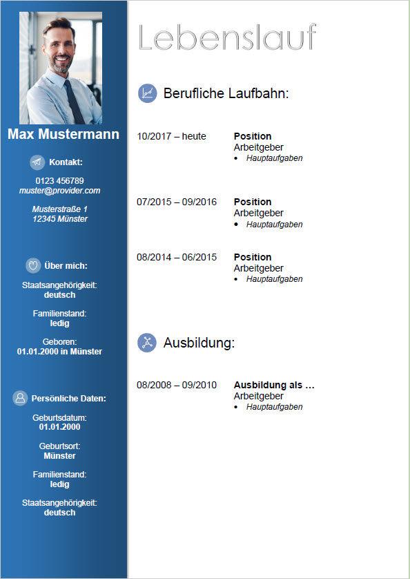 Curriculum Vitae tedesco Pagina 1